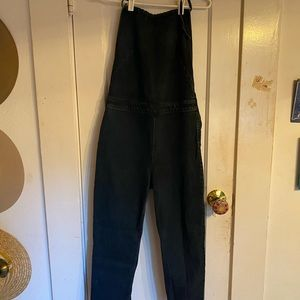 FP halter top jumpsuit dark denim stretchy